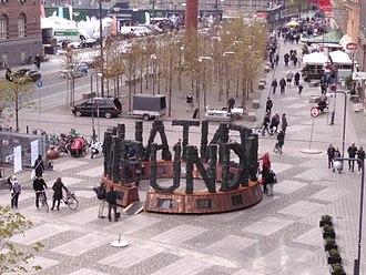 "Jens Galschiøt - The sculpture ""Fundamentalism"""