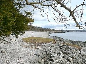English: The shore, Arnside Park, Arnside A ba...