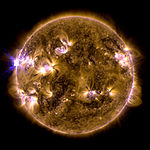The sun erupted with an X1.7-class solar flare on May 12, 2013.jpg