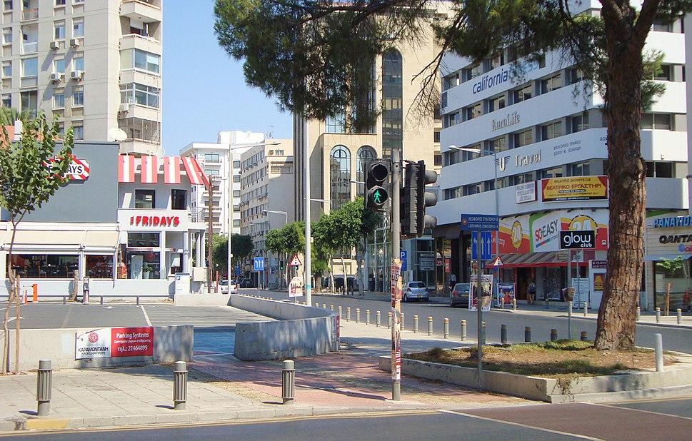Themistokli Dervi Avenue in Nicosia Republic of Cyprus