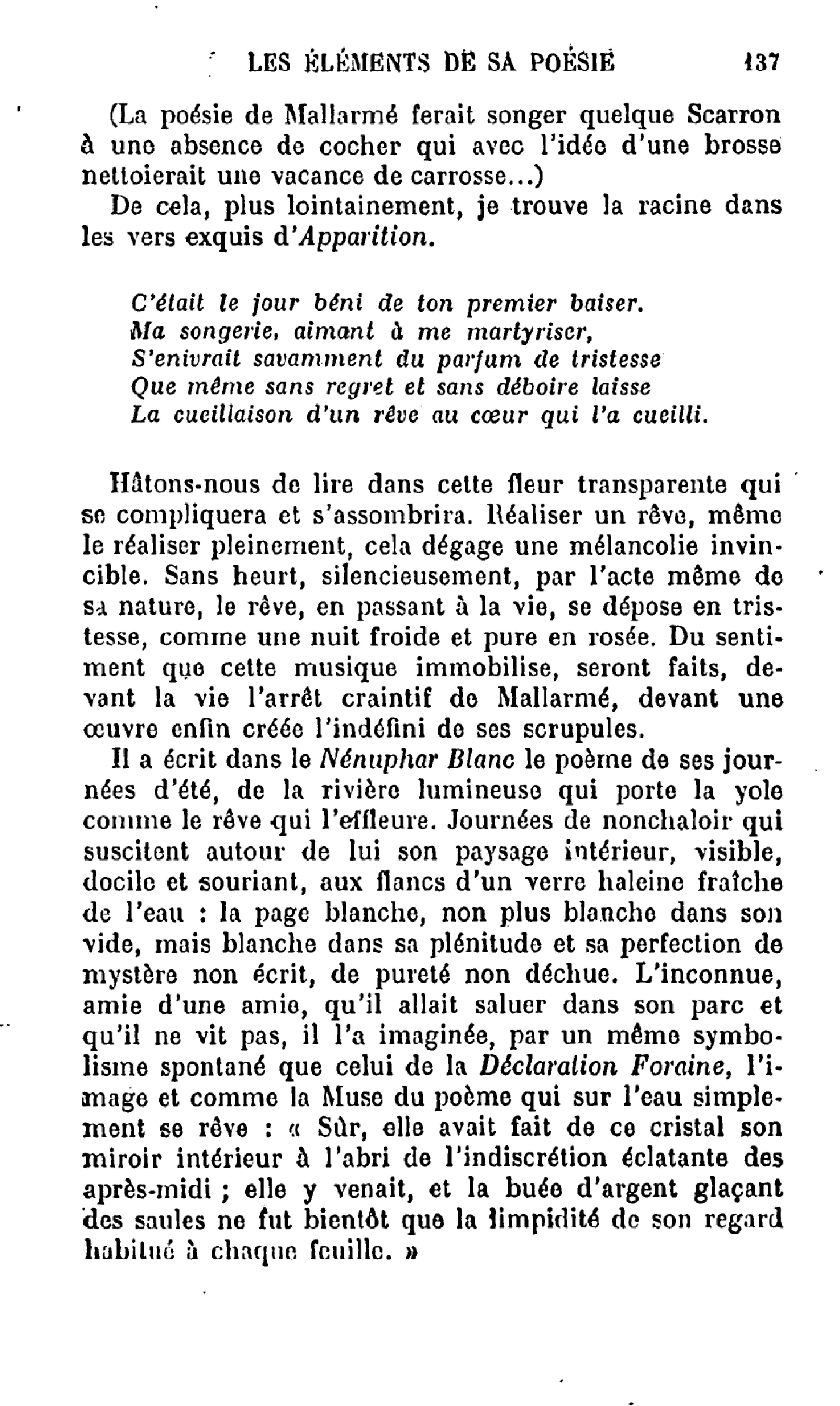 Pagethibaudet La Poésie De Stéphane Mallarmédjvu141