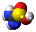 Thiourea dioxide molecule spacefill.png