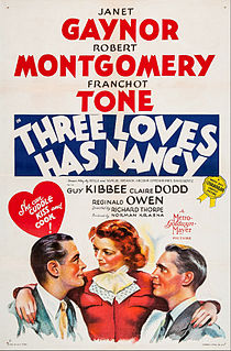 <i>Three Loves Has Nancy</i> 1938 film by Richard Thorpe