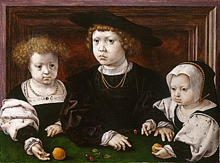 Three children of King Christian II of Denmark