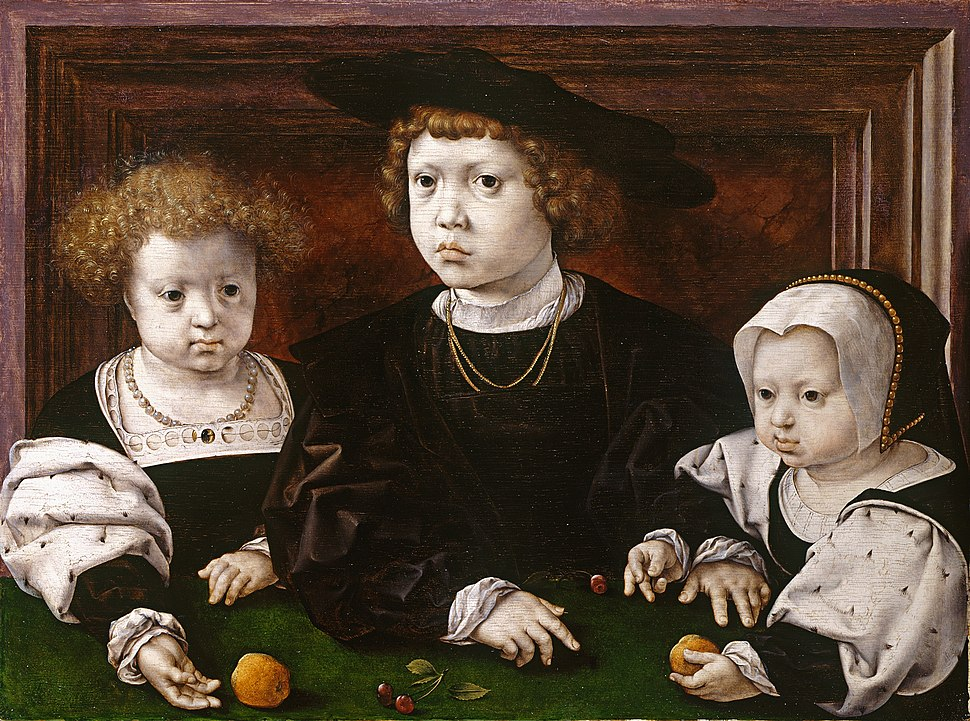 Three children of King Christian II of Denmark by Jan Gossaert (1526)
