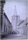 toren katholieke kerk aan het einde van straat - schijndel - 20318749 - rce
