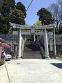 Toriis on sando of Miyajidake Shrine.jpg