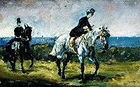 Toulouse-Lautrec - AMAZONE SUIVIE DE SON GROOM, 1880, MTL.25.jpg