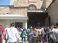 Tourist in the entrance point of Hagia Sophia, April 2013.JPG