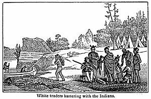 Меховая торговля, иллюстрация 1820-го года
