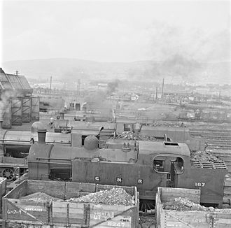 Great Northern Railway (Ireland) - GNR loco sheds at Adelaide, 1959