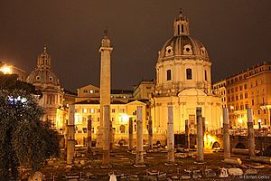 Trajan's Forum - The Trajan Forum at night