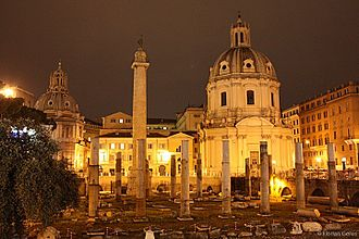 Trajan's Forum - Trajan's Forum at night