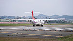 TransAsia Airways ATR 72-212A B-22816 Taking off from Taipei Songshan Airport 20150101.jpg
