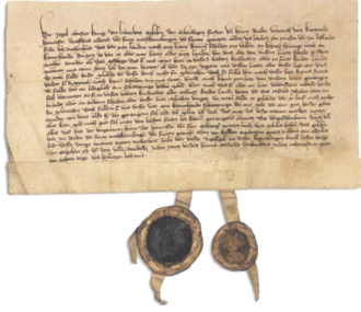 Lithuanian Civil War (1381–84) - Image: Treaty of Dovydiškės between Jogaila and Order