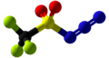 Trifluoromethanesulfonyl azide Ball and Stick.png