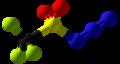 Trifluoromethanesulfonyl azide Ball and Stick.png