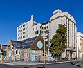 Trinity Congregational Church with State Insurance Building, Christchurch, New Zealand.jpg