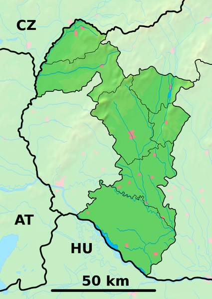 Fichier:Trnava Region - physical map.png