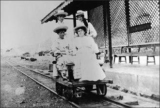 Barbados Railway - Draisine on the Barbados Railway