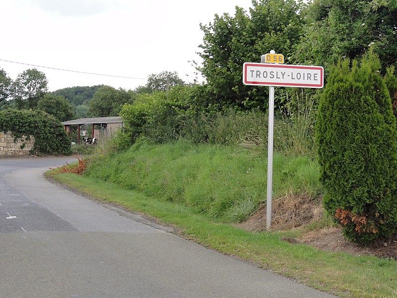 Trosly-Loire (Aisne) city limit sign