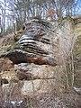 Truskavna, Na Dole, skalní útvar (01).jpg