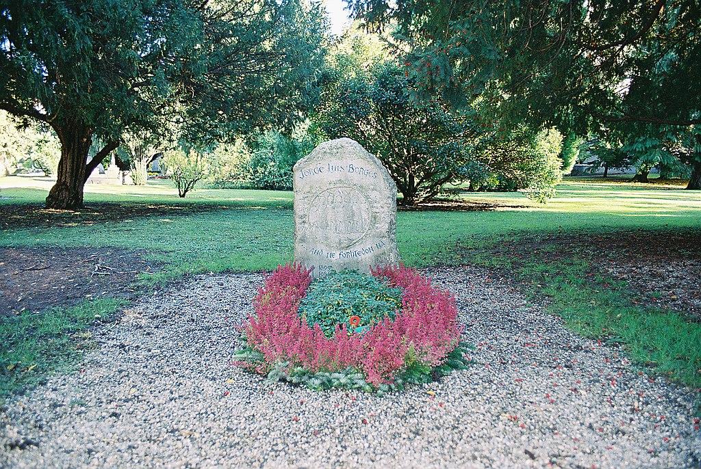 Tumba de Jorge Luis Borges. Cementerio de los Reyes. Ginebra