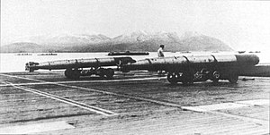 Type 91 torpedo - Type 91 torpedoes aboard an aircraft carrier.
