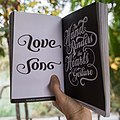 Typism book one ambigram Love Song by Basile Morin.jpg
