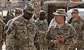 U.S. Army Gen. Lloyd Austin III, left, the commander of U.S. Central Command, speaks with Command Sgt. Maj. Noe Salinas, the senior enlisted adviser for the 4th Brigade Combat Team, 10th Mountain Division, Task 131006-A-CB167-008.jpg
