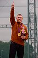 U.S. Army Sgt. Vincent Hancock becomes the first shotgun shooter to win consecutive Olympic gold medals in men's skeet in London July 31, 2012 120731-A-ZZ999-002.jpg