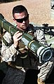 U.S. Marine Corps Capt. Kevin Baltisberger, a forward air controller with Marine Rotational Force - Darwin, learns to shoot an AT4 antitank grenade launcher during a training exercise at Kangaroo Flats Training 130523-M-AL626-0337.jpg