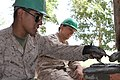 U.S. Marine Corps Pfc. Ismael Moctezumadelalanza, left, and Lance Cpl. Christopher A. Cornelison, both with the 9th Engineer Support Battalion, 3rd Marine Logistics Group, III Marine Expeditionary Force, spread 130727-M-DR618-078.jpg