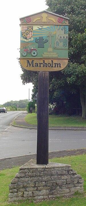 Marholm - Signpost in Marholm