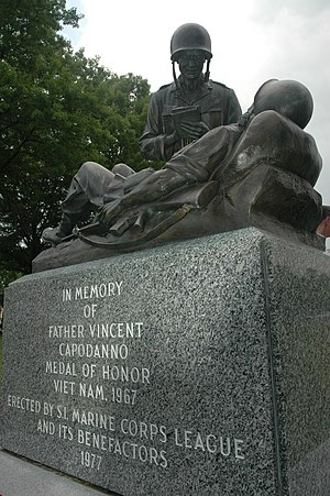 Vincent R. Capodanno - Another memorial to Father Vincent Capodanno, Fort Wadsworth, New York