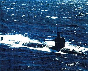 Batfish (SSN-681), March 1995, western Atlantic Ocean.