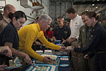 USS Carl Vinson CO, EO celebrate birthdays 141101-N-UW005-073.jpg