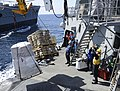 USS Kidd receive supplies during a replenishment-at-sea. (33648165870).jpg