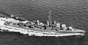USS Moale (DD-693) underway at sea, circa in 1944 (19-N-62453)