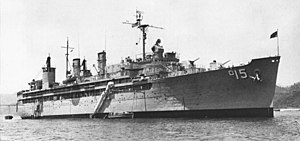 USS Prairie (AD-15) at anchor in the 1960s.jpg