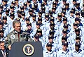 US Navy 030213-N-6651N-002 President George W. Bush speaks to an audience of nearly 5,000 gathered at Mayport Naval Station.jpg