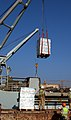 US Navy 030328-N-2513W-051 Bottled water is delivered by crane to the port of Umm Qasr.jpg
