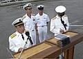 US Navy 031025-N-7293M-076 Rear Adm. Xue Tianpei, Deputy Commander of the People's Republic of China's South Sea Fleet, makes remarks as Rear Adm. Frederic R. Ruehe, Commander, U.S. Naval Forces, Japan, listens.jpg