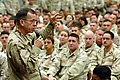 US Navy 061227-N-9594C-003 Chief of Naval Operations (CNO) Adm. Mike Mullen addresses Sailors and Marines on board Naval Support Activity Bahrain during a holiday tour.jpg