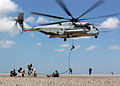US Navy 071022-F-6318R-083 Explosive ordnance disposal technicians from Combined Joint Task Force-Horn of Africa train with French naval special forces during a hostile situation training scenario using a CH-53E Super Stallion.jpg