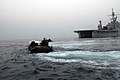 US Navy 071114-N-6936D-332 Marines return to the amphibious transport dock ship USS Juneau (LPD 10) in amphibious assault vehicles during a joint training exercise with the Republic of Korea.jpg