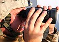 US Navy 080923-N-6764G-033 Lance Cpl. Joel Vandentoorn scans the horizon while transiting the Suez Canal.jpg