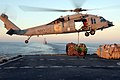 US Navy 100114-N-2600H-119 ailors aboard the Military Sealift Command fast combat support ship USNS Bridge (T-AOE 10) attach cargo to an MH-60S Sea Hawk.jpg