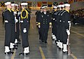 US Navy 120120-N-CM124-189 Vice Adm. James P. Wisecup, Naval Inspector General, inspects a recruit drill platoon at a pass-in-review graduation in.jpg
