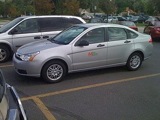 Uhaul Car Share - A Ford Focus parked in Salt Lake City
